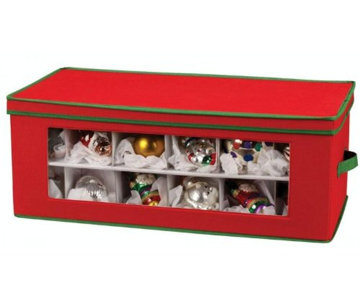 Ornament Chest See Through 3 Tier Ornament Storage Chest With