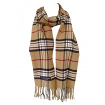 Cashmere Feel Plaid Scarves(New England Plaid) - Camel