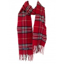 Cashmere Feel Plaid Scarves(New England Plaid) - Red