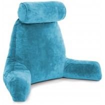 Husband Pillow Bedrest Reading & Support Bed Backrest With Arms Teal - Shredded Foam Reading Pillow - Bed Rest Pillow Makes A Comfy And Therapeutic Cuddle Buddy Any Time You Need One