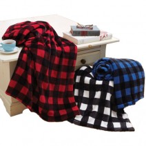 The Cabin Throw - Buffalo Check Black/White