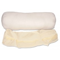 Cervical Neck Roll Pillow Case Only - Beige Satin