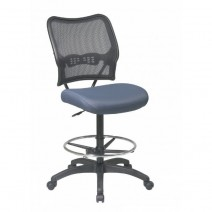 AirGrid Back and Custom Fabric Seat Drafting Chair, Custom B Fabric