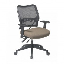 Deluxe Chair with AirGrid Back and Custom Fabric Seat, Custom R Fabric