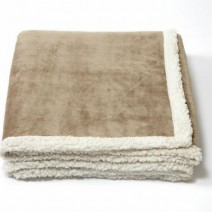Lambswool Throw Blanket - Light Tan