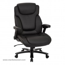 Black Bonded Leather Big and Tall Deluxe High Back Executive Chair
