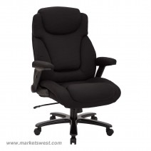 Black Fabric Big and Tall Deluxe High Back Executive Chair