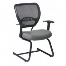 Professional AirGrid Back Visitors Chair, Custom R Fabric