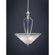 "Zilo Pendant With 3 Bulbs Shown In Graphite Finish With 16"" Frosted Crystal Glass"