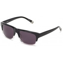 True Religion Jamie Rectangular Sunglasses, Black Clear, 55 Mm