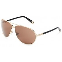 True Religion Tony Aviator Sunglasses, Black And Shiny Gold, 63 Mm
