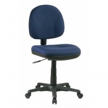 Sculptured Task Chair without Arms, Custom C Grade Fabric