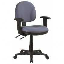 Sculptured Ergonomic Managers Chair with Adjustable Arm, Custom A Grade Fabric