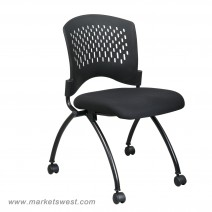 Deluxe Armless Folding Chair, Coal
