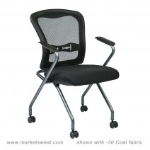 Deluxe Folding Chair with ProGrid Back, Custom R Grade Fabric