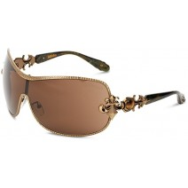 Affliction Sunglasses Fiona Shield Sunglasses Antique Gold & Bronze