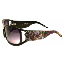 EHS-046 Snakes & Roses Sunglasses - Black