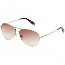 True Religion Joey Aviator Sunglasses, Tortoise And Gold, 56 Mm