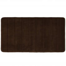 Microfiber Absorbing Memory Foam Bath Mat - Brown