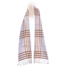 Cashmere Feel Plaid Scarves(New England Plaid) - Baby Blue
