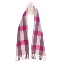Cashmere Feel Plaid Scarves(New England Plaid) - Beige Pink