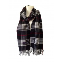 Cashmere Feel Plaid Scarves(New England Plaid) - Black