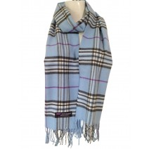 Cashmere Feel Plaid Scarves(New England Plaid) - Blue