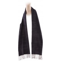 Cashmere Feel Plaid Scarves(New England Plaid) - Dark Grey