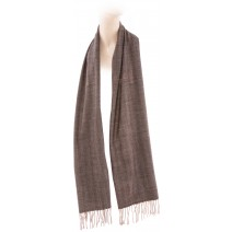 Cashmere Feel Plaid Scarves(New England Plaid) - Gold Brown