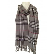 Cashmere Feel Plaid Scarvesnew England Plaid - Grey