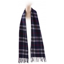 Cashmere Feel Plaid Scarves(New England Plaid) - Navy