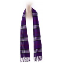 Cashmere Feel Plaid Scarves(New England Plaid) - Purple