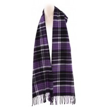 Cashmere Feel Plaid Scarves(New England Plaid) - Purple Black