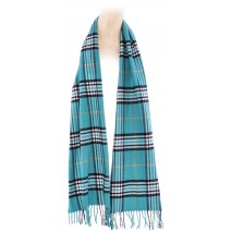 Cashmere Feel Plaid Scarves(New England Plaid) - Teal