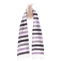 Cashmere Feel Plaid Scarves(New England Plaid) - White Striped