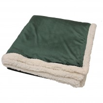 Challenger Lambswool Throw - Hunter Green