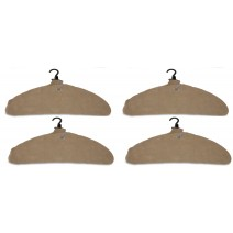 Quick Dry Inflatable Laundry Hangers, Large - Allows Further Sepration To Dry Faster - Deflates For Compact Storage And Travel - Curved Edges Prevent Hanger Crease - Clothes Hangers, Tan - Pack of 4
