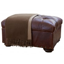 Classic Reversible Throw - Chocolate/Tan