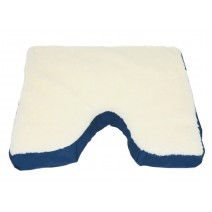 Deluxe Comfort Coccyx Gel Seat Cushion with Fleece - Orthopedic Grade Foam With Gel Layer - Reduces Pressure Point & Tailbone Pain - Weight Capacity -