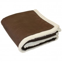 Lambswool Throw Blanket - Dark Chocolate
