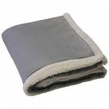 Challenger Lambswool Throw - Light Gray