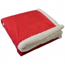 Challenger Lambswool Throw - Red