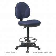 Sculptured Seat and Back Drafting Chair, Custom C Grade Fabric