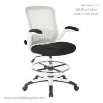 Mesh Back Drafting Chair, Custom A Grade Fabric