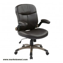 Executive Mid Back Bonded Leather Chair, Espresso