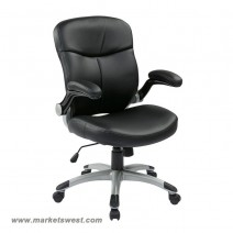 Executive Mid Back Bonded Leather Chair, Black
