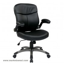 Executive Mid Back Bonded Leather Chair, Black Bonded Leather (-EC3)