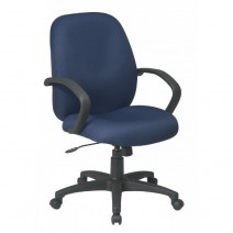 Executive Mid Back Managers Chair with Fabric Back, Custom A Grade Fabric