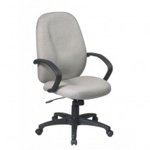 Executive High Back Managers Chair with Fabric Back, Custom C Grade Fabric