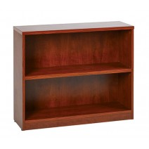 "2-Shelf Bookcase with 1"" Thick Shelves - Cherry"